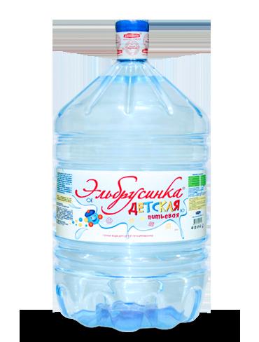 Вода Эльбрусинка детская, 19 литров, одноразовая
