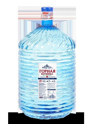Вода Горная вершина, 19 литров одноразовая