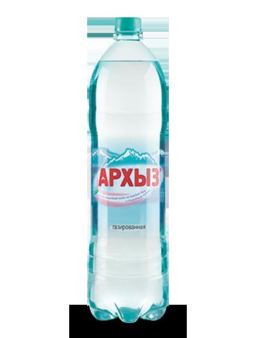 Вода Архыз 1.5 литров, газ. ПЭТ