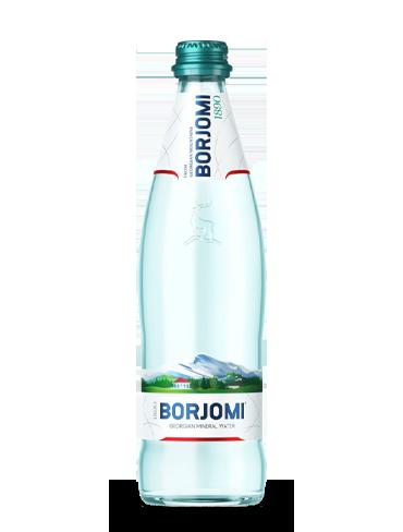 Вода Боржоми 0.5 литра, газ, стекло