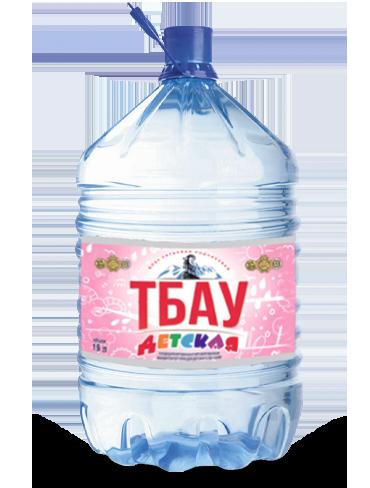 Вода Тбау детская в одноразовой таре, 19 литров