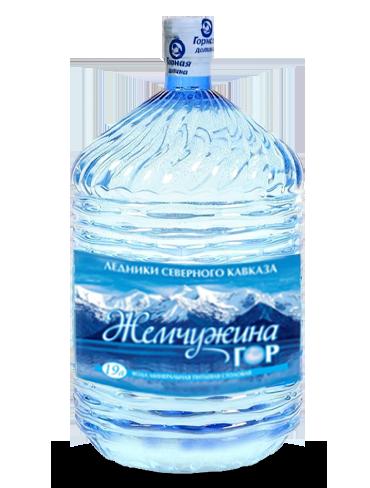 Вода Жемчужина гор в одноразовой таре, 19 литров
