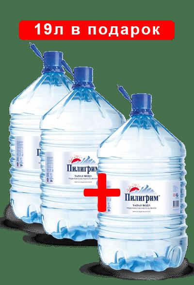 Две бутыли воды Пилигрим плюс одна в подарок