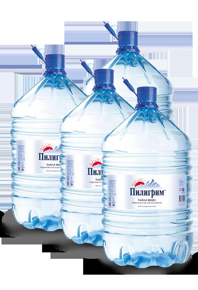 Питьевая вода пилигрим 19 литров одноразовая тара - 4 бутыли
