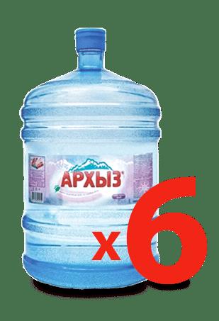 Питьевая вода Архыз 19 литров - 6 бутылей