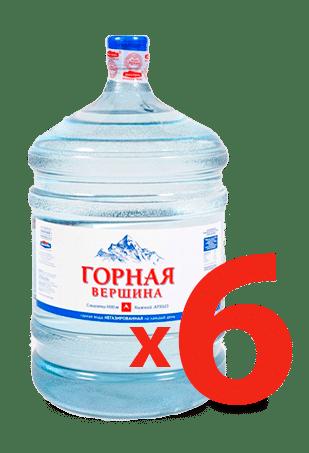 Питьевая вода Горная Вершина 19 литров - 6 бутылей